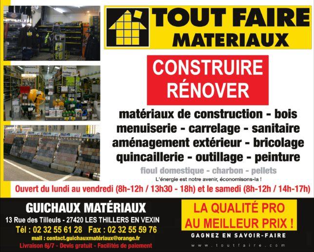 matériaux de construction, outillage, combustible