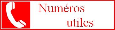 Numéros utiles